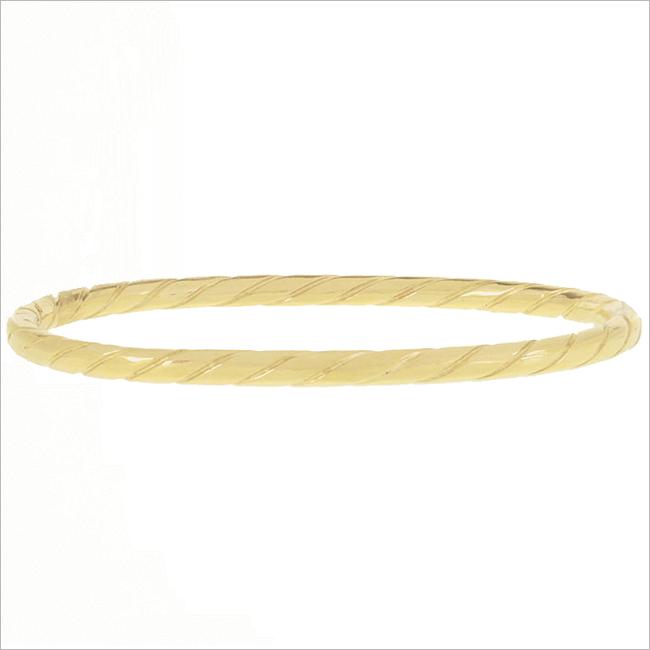 Gouden MY JEWELLERY Armband BANGLE TOUWPATROON - large