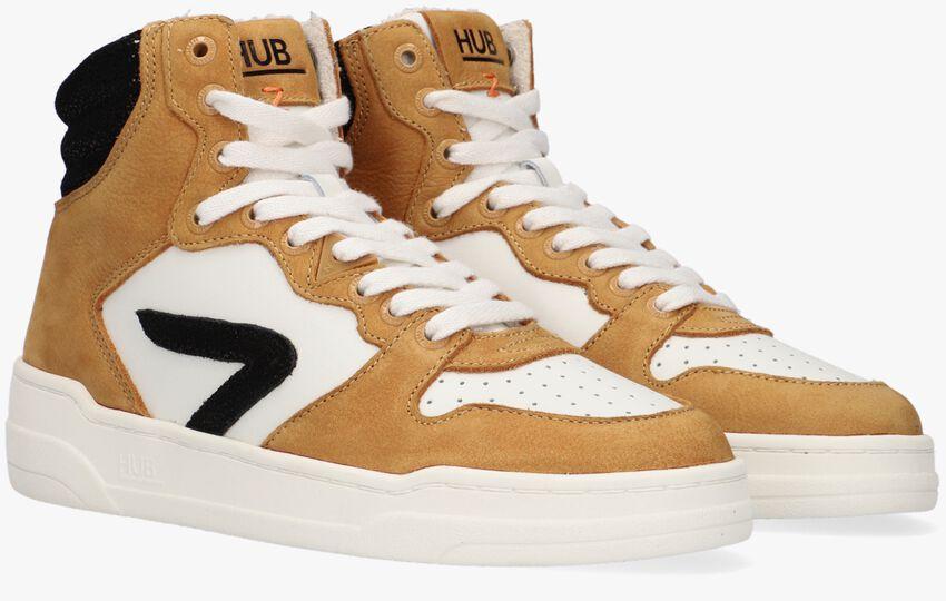 Gele HUB Hoge sneaker COURT-Z HIGH  - larger