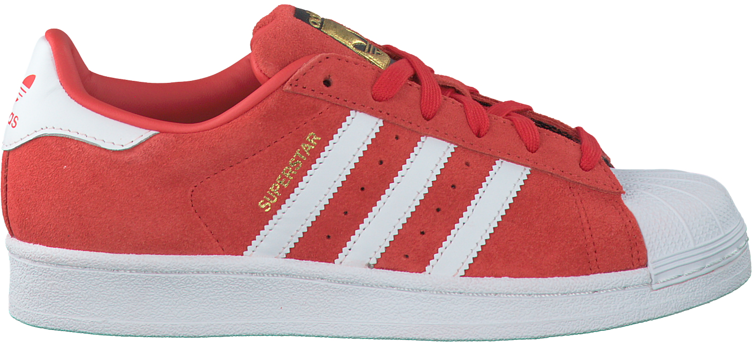 Rode ADIDAS Sneakers SUPERSTAR DAMES | Omoda