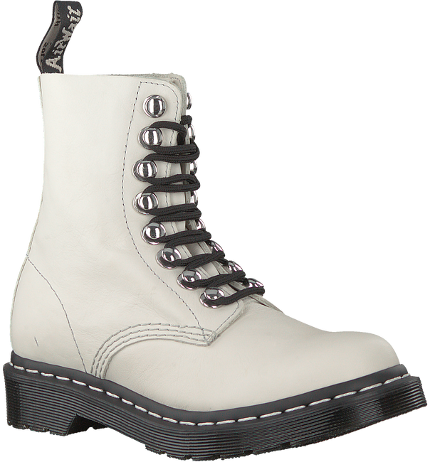 Witte DR MARTENS Veterboots 1460 PASCAL HDW  - large