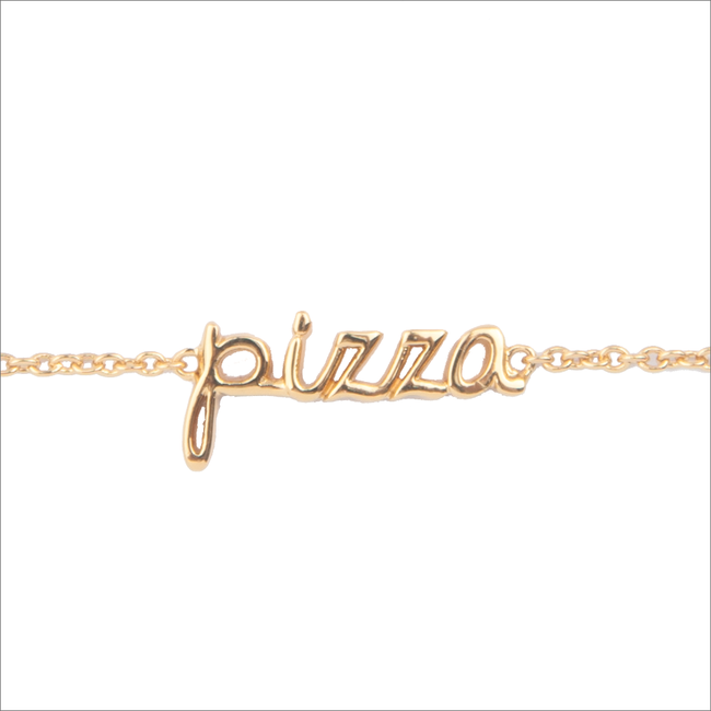 Gouden ALLTHELUCKINTHEWORLD Armband URBAN BRACELET PIZZA - large