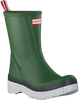 Groene HUNTER Regenlaarzen PLAY MID BOOT SPECKLE - small