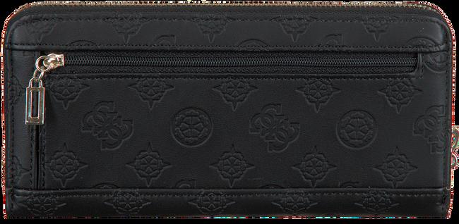 Zwarte GUESS Portemonnee JANELLE SLG LARGE ZIP AROUND  - large