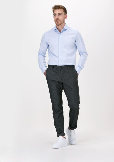 Blauwe PORTO MILANO Klassiek overhemd MILANO  - large