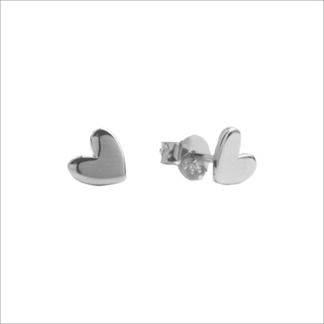 Zilveren ATLITW STUDIO Oorbellen PARADE EARRINGS HEART - large