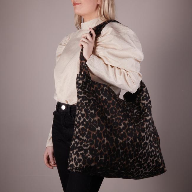 Bruine STUDIO NOOS Shopper BROWN JAGUAR MOM-BAG  - large