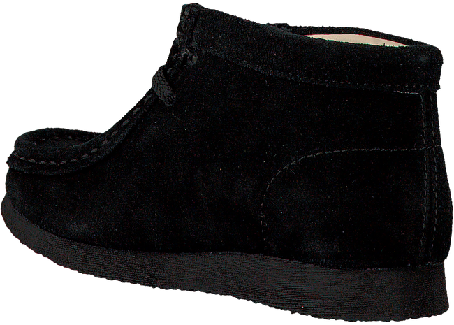 Zwarte CLARKS Veterschoenen WALLABEE BOOT  - large