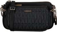 Zwarte GUESS Schoudertas ARIE DOUBLE POUCH  - medium
