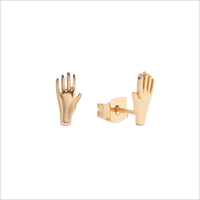 Gouden ATLITW STUDIO Oorbellen PARADE EARRINGS HAND - medium