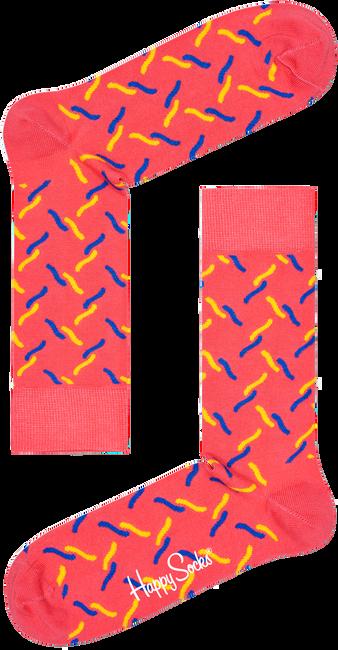 Roze HAPPY SOCKS Sokken FENCE - large