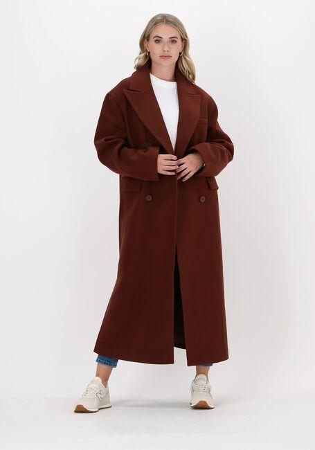 Bruine NA-KD Mantel OVERSIZED SIDE SLIT COAT  - large