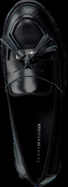 Zwarte TOMMY HILFIGER Loafers METALLIC LEATHER LOAFER - large