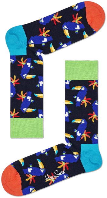 Multi HAPPY SOCKS Sokken TOUCAN  - large
