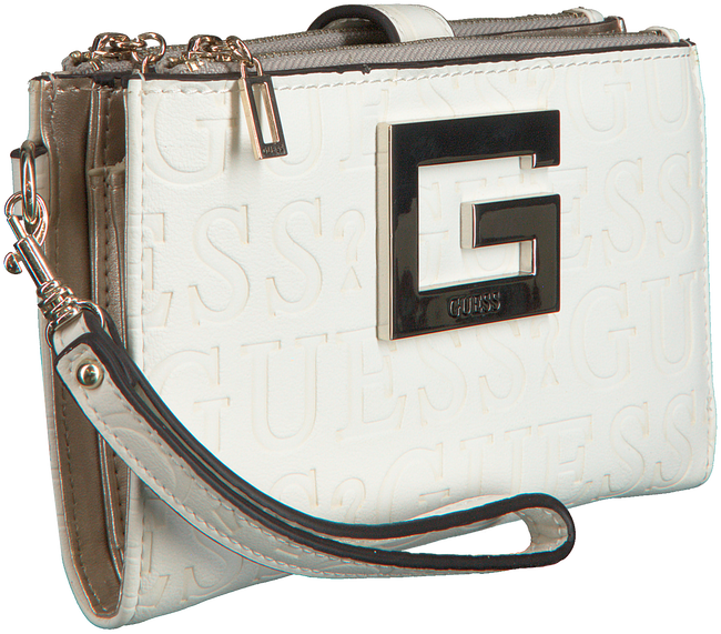 Witte GUESS Portemonnee BRIGHTSIDE SLG DBL ZIP ORGNZR - large