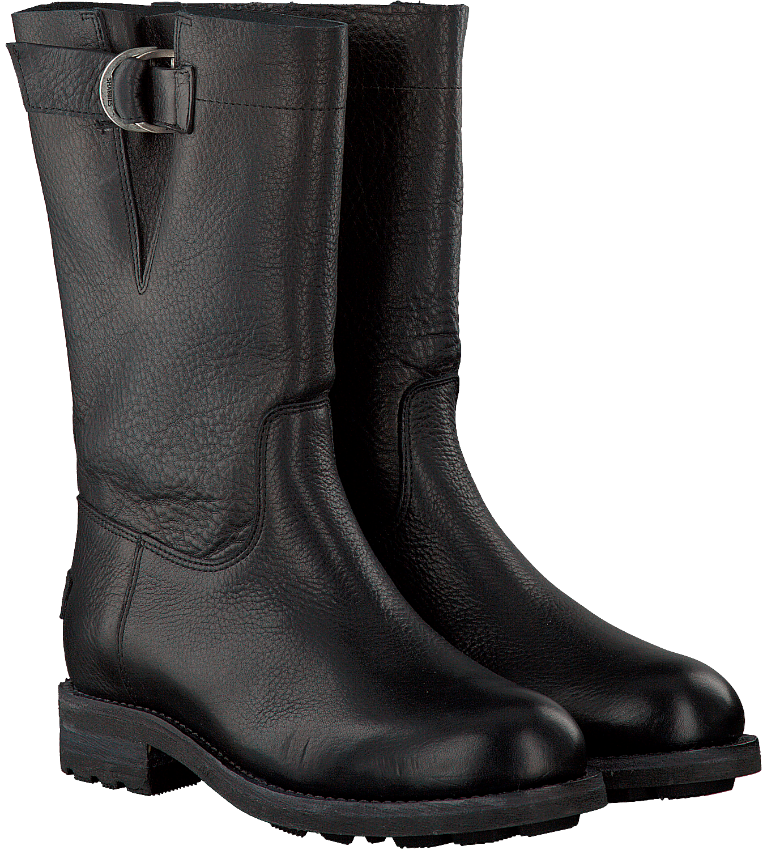 178187fd993 Zwarte SHABBIES Biker boots 191020004 - Omoda.nl