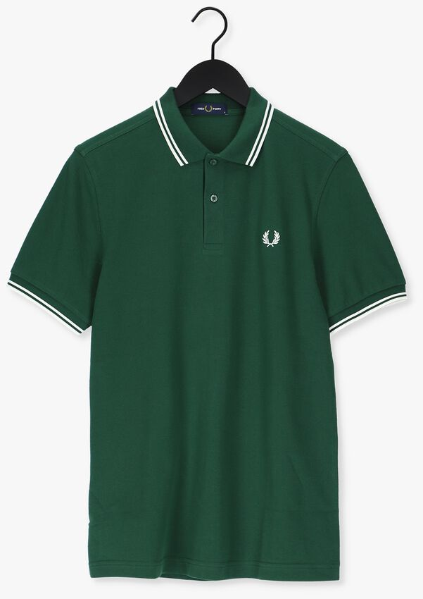 Groene FRED PERRY Polo TWIN TIPPED PRED PERRY SHIRT  - larger