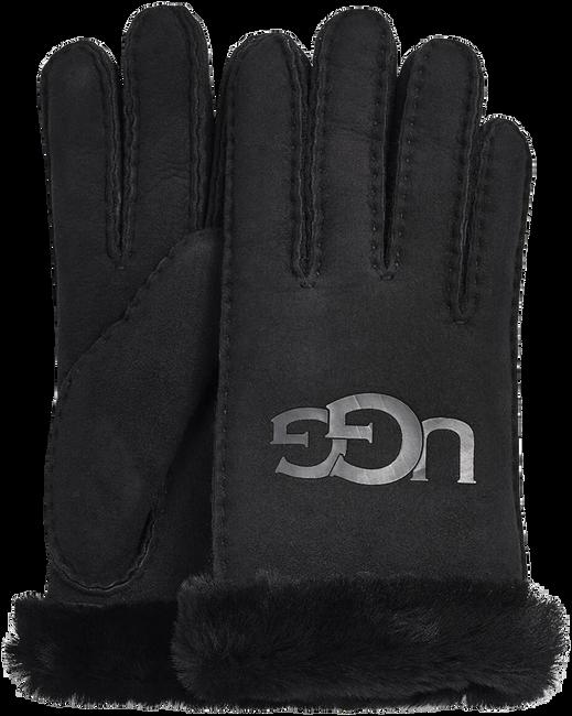 Zwarte UGG Handschoenen SHEEPSKIN LOGO - large