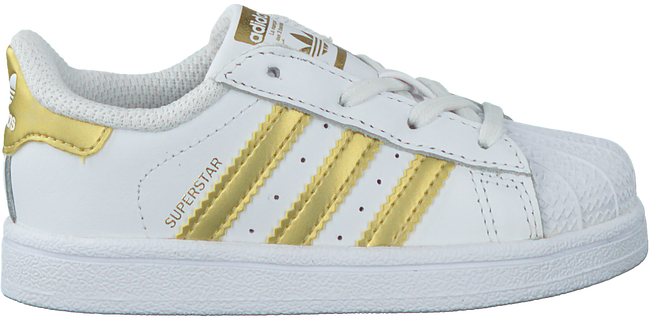 Witte ADIDAS Sneakers SUPERSTAR KIDS 1  - large