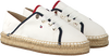 Witte TOMMY HILFIGER Espadrilles TH METALLIC LACE UP ESPADRILLE  - small