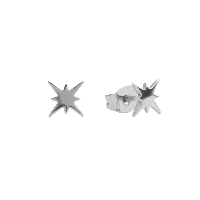 Zilveren ATLITW STUDIO Oorbellen PARADE EARRINGS STARBURST - large