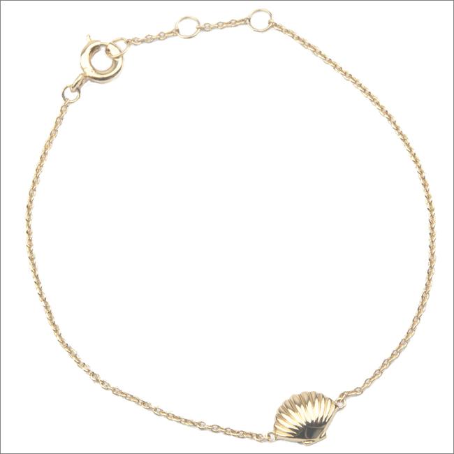 Gouden ATLITW STUDIO Armband SOUVENIR BRACELET SEA SHELL - large