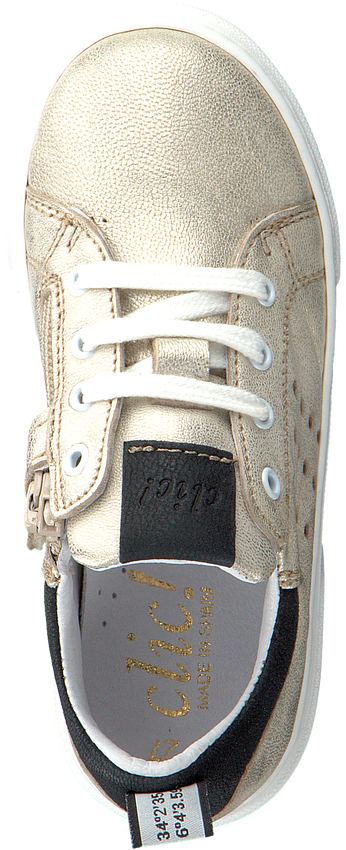 Gouden CLIC! Sneakers 9754 - larger