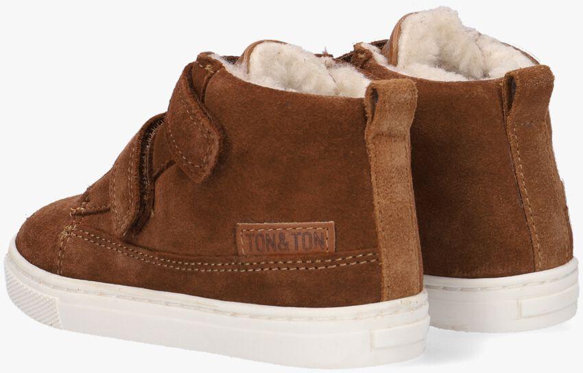 Cognac TON & TON Hoge sneaker STEYN  - larger