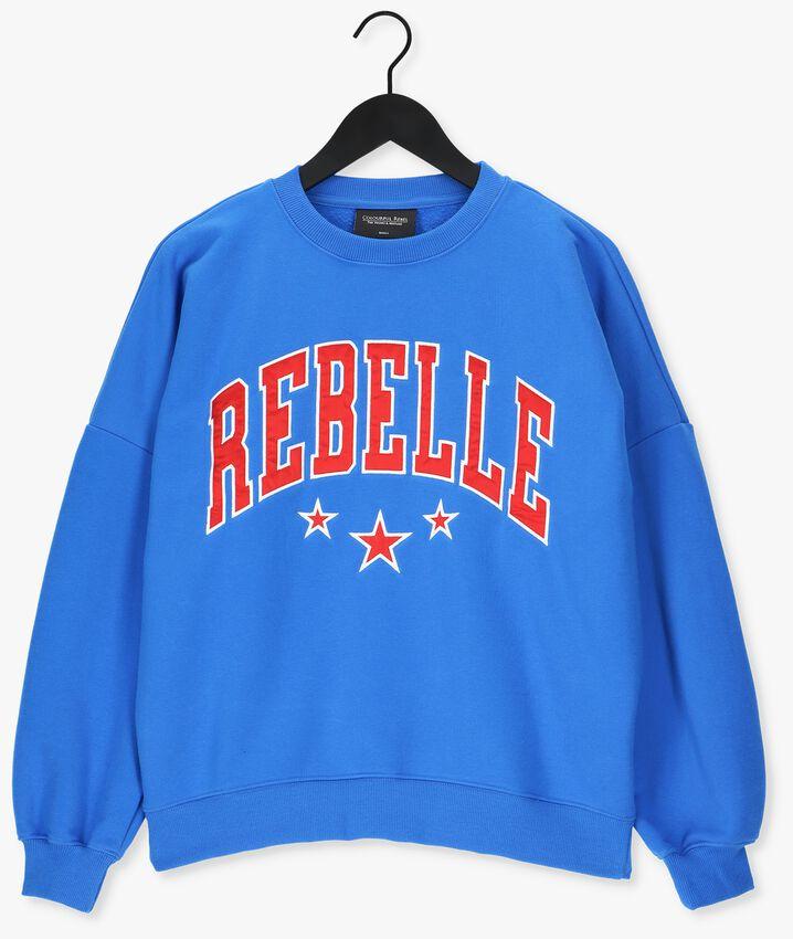 Kobalt COLOURFUL REBEL Sweater REBELLE PATCH DROPSHOULDER - larger