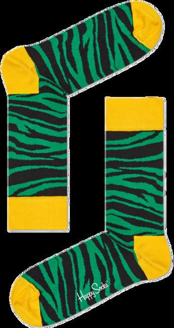 Groene HAPPY SOCKS Sokken ZEBRA - large