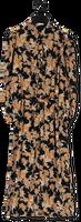 Zwarte FREEBIRD Midi jurk HARPER PUFF LS