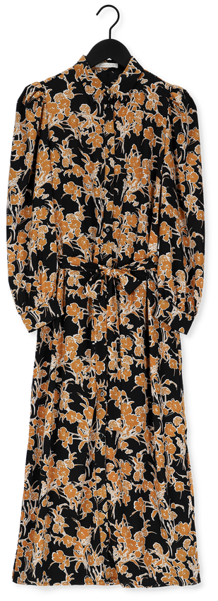 Zwarte FREEBIRD Midi jurk HARPER PUFF LS - larger