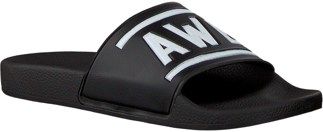 Zwarte THE WHITE BRAND Slippers AWESOME  - large
