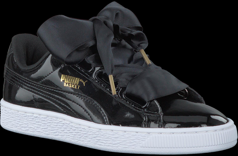 Patent Puma Sneakers Omoda Zwarte Basket nl Heart N8nPwOkZ0X