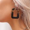 Bruine MY JEWELLERY Oorbellen SQUARE EARRINGS  - small