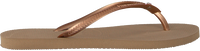 Gouden HAVAIANAS Slippers SLIM CRYSTAL GLAMOUR  - medium