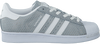 Grijze ADIDAS Sneakers SUPERSTAR DAMES  - small