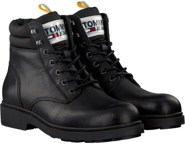 Zwarte TOMMY HILFIGER Veterboots CASUAL BOOT  - large