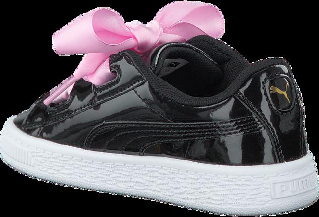 Zwarte PUMA Sneakers BASKET HEART PATENT KIDS  - large