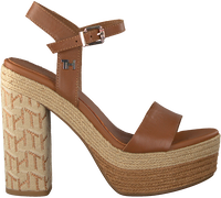 Cognac TOMMY HILFIGER Sandalen TH RAFFIA HIGH HEEL  - medium