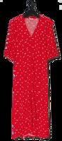 Rode ENVII Maxi jurk ENMONIQUE DRESS AOP 6696