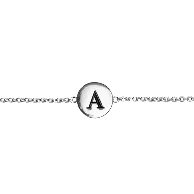 Zilveren ALLTHELUCKINTHEWORLD Armband CHARACTER BRACELET LETTER SILV - large