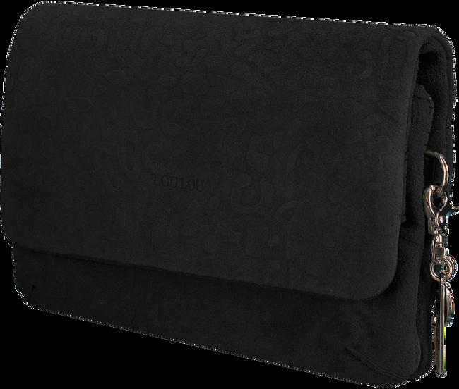 Zwarte LOULOU Essentiels Clutch LOVELY LEOPARD - large