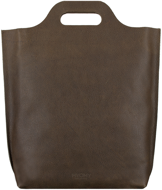 Bruine MYOMY Handtas CARRY SHOPPER - large
