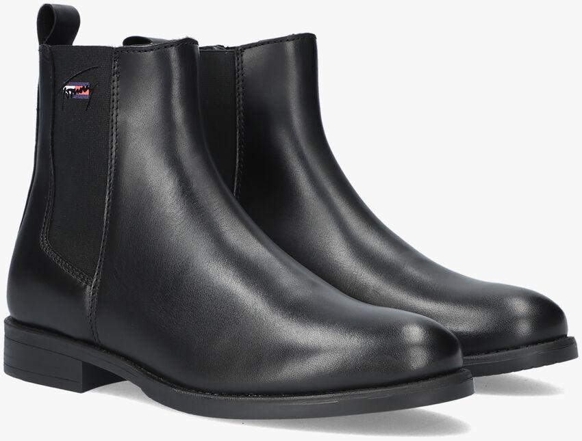 Zwarte TOMMY HILFIGER Chelsea boots ESSENTIALS LEATHER  - larger