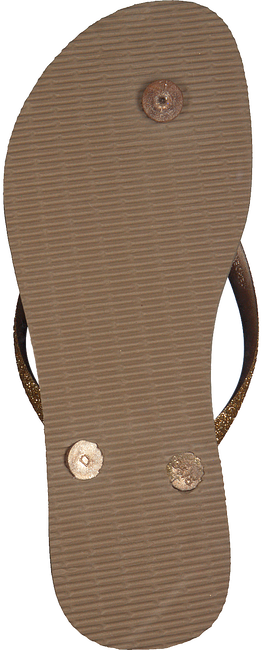 Gouden HAVAIANAS Slippers SLIM GLITTER  - large