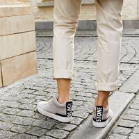 Grijze BLACKSTONE Sneakers RM14  - medium