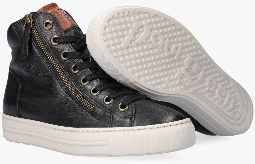 Zwarte PAUL GREEN Hoge sneaker 4024  - larger