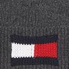 Grijze TOMMY HILFIGER  Muts BIG FLAG BEANIE  - small