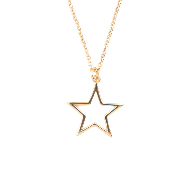 Gouden ALLTHELUCKINTHEWORLD Ketting SOUVENIR NECKLACE STAR - large
