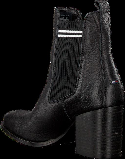 Zwarte TOMMY HILFIGER Chelsea boots SOCK MID HEEL CHELSEA BOOT - large